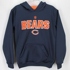 7c53540e Chicago Bears Hooded Sweatshirt Youth M Navy Blue Orange NFL Team Apparel  Hoodie #NFL #