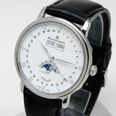 Blancpain Villeret Calendrier Complet - Accompagnée de son écrin et de ses papiers d'origine.    Diamètre : 38 mm. Fine Watches, Accessories, Calendar, Watch, Nice Watches