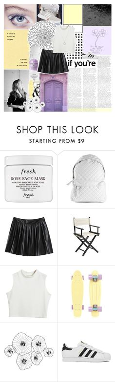 """""""Tear in My Heart"""" by lucidmoon ❤ liked on Polyvore featuring Fresh, Stampd, Pier 1 Imports, Chicnova Fashion, Percival, adidas and FOSSIL"""