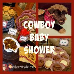 Cowboy Baby Shower Lots of great ideas for a shower or change to a cowgirl, too! Ideas that can be used for any western party!
