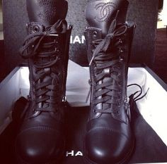 Chanel combat boots...