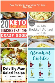 Easy Keto & Low Carb Lunches!! You won't get bored of these healthy ketogenic lunch recipes for your LCHF diet! PINNING for later!! #keto #ketogenic #lowcarb #lchf #healthyrecipes low carb diet Best Low Carb Lunch Ideas For Your Keto Diet