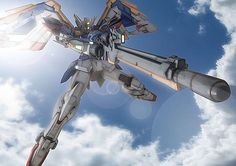 Wing Gundam Zero (aka Wing Zero) is a mobile suit that appears in Mobile Suit Gundam Wing and its sequel OVA/movie Endless Waltz. Though having many pilots during its lifetime, the unit was most famously piloted by the series' main protagonist Heero Yuy. Arte Gundam, Gundam Wing, Gundam Art, Fantasy Heroes, Fantasy Comics, Transformers, Heero Yuy, Gundam Wallpapers, Gundam Mobile Suit