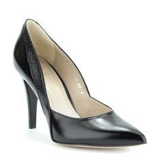 Anis alkalmi cipő - Magas sarkú bőr alkalmi cipő, nyomott minta díszíti | ChiX.hu cipő webáruház - ChiX.hu Online Shoes - http://chix.hu