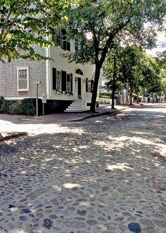 Nantucket Main Street - walking down this street in heels is not easy!
