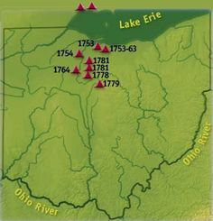 Wyandot Tribe towns map in Ohio - Indian Wyandot - Google Search