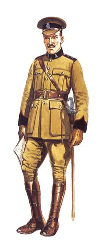 Oficial, 38º Dufferin Fusileros de Canada, 1914.