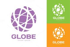 Abstract earth logo. Globe logo icon by Vector-Stock on Creative Market
