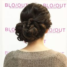 Crushing on this low side bun'do @ BLO/OUT Washington Square this past weekend!