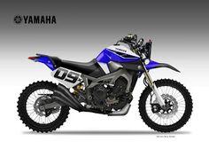 "Motosketches: YAMAHA MT-09 DIRTIEST SON ""Baja"""