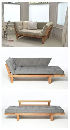 Move into your comfort zone with our space saving Oak Switch Sofa Bed which offers three relaxation positions for the price of one – sitting, slouching and sleeping!