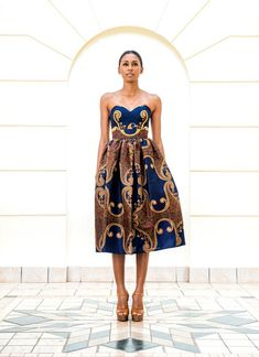 african fashion 2013 | Taibo Bacar's F/W 2013 lookbook- Modern- African-print -style dress