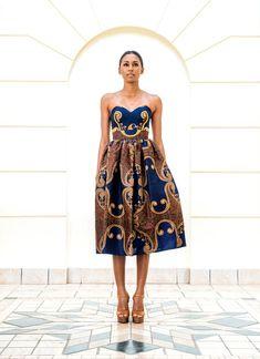 african fashion 2013 | Taibo Bacar's F/W 2013 lookbook- Modern- African-print -style dress