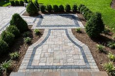 What color pavingstone would you have in your entryway? This entryway features Cambridge Pavingstones with ArmorTec. Installation: Barry Bros Landscape