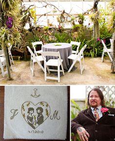 Real Wedding: Jill + Matt's Playful Greenhouse Wedding