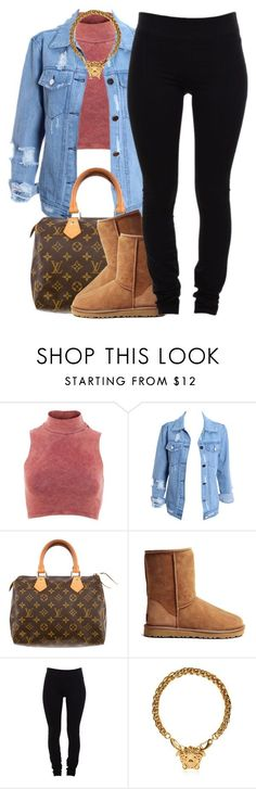 """nov. 27 2k14"" by xo-beauty ❤ liked on Polyvore featuring Influence, Louis Vuitton, UGG Australia, Helmut Lang and Versace"