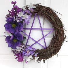 Spring Wreath Ostara Wreath Pentacle Wreath by TheShabbyWitch