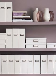 Content labels mean less time searching. File like an organizer with the Office by Martha Stewart™ collection now & in store File Folder Organization, Receipt Organization, Office Organization At Work, Organization Hacks, Organizing, Home Office Shelves, Home Office Space, Office Workspace, Home Office Decor