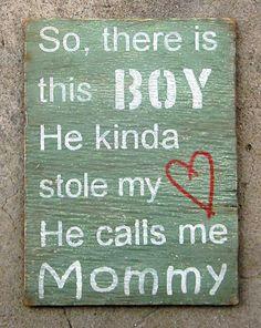 Ser mãe de um rapaz...