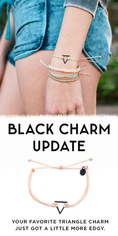 New Black Charm bracelets have arrived at Pura Vida! Style your wrist this season with these beautiful hand-made bracelets. Every bracelet purchased helps to provide 100+ full-time jobs to local artisans in Costa Rica. Use code 'PV20' for 20% off all orders plus free shipping on U.S orders over $25. Join the Pura Vida movement!