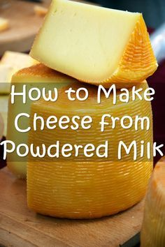 How to Make Cheese from Powdered Milk - It's really easy to do and tastes pretty good too. I guess any cheese if SHTF would be better than no cheese. This also gives you something else to use your powdered milk for other than drinking. As we all know powd Fromage Vegan, Fromage Cheese, Emergency Food, Survival Food, Milk Recipes, Canning Recipes, Cheese Recipes, Food Storage Recipes, Kefir