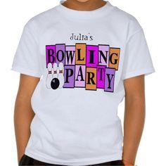 KRW Custom Bowling Birthday Party Kids Shirts