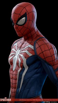 ArtStation - Marvel's Spider-man Advanced Suit, Leroy Chen Spiderman Suits, Spiderman Costume, Black Spiderman, Spiderman Art, Amazing Spiderman, Marvel Comics, Hq Marvel, Marvel Heroes, Marvel Characters