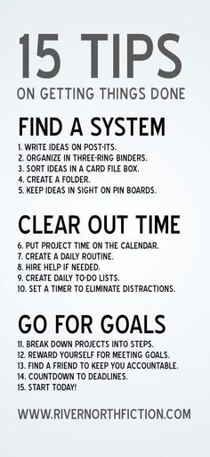 15 tips of getting things done - #Life, #LifeHack, #Tips