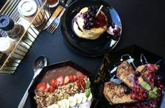 Pancakes, acai bowl, french toast at Lilith Coffee