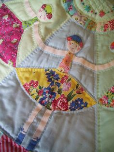 Dancing Dollies....a closeup..... from the Dancing Dollies quilt by Trish Harper--how adorable!