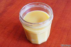 Πως να φτιάξεις κεραλοιφή Glass Of Milk, Pudding, Desserts, Food, Tailgate Desserts, Deserts, Custard Pudding, Essen, Puddings