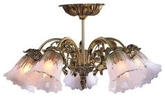 """Victorian Brass 17"""" Wide Semi-Flushmount Ceiling Fixture traditional ceiling lighting"""