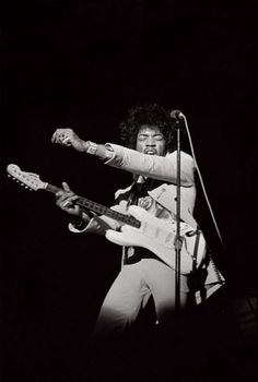 Jimi Hendrix performs in New York City in 1969. Photograph by Linda McCartney, courtesy of Taschen.