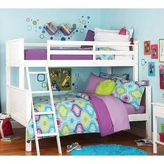 $329 your zone twin over full bunk bed, white: Kids' & Teen Rooms : Walmart.com