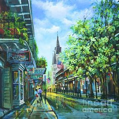 Chartres Afternoon Painting by Dianne Parks - Chartres Afternoon Fine Art Prints and Posters for Sale