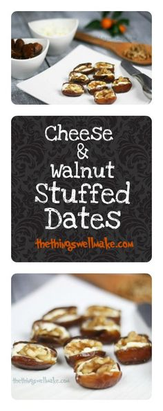 Who said simple can't be elegant? These easy & quick walnut & cheese stuffed dates are perfect for last minute entertaining.