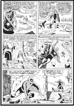 Page from AMAZING SPIDER-MAN # 6 by Steve Ditko.