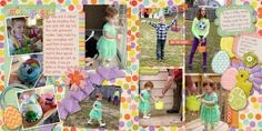 Two page Easter layout @Erin Duncan Gypsy