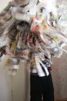Agnes handmade: majvippor av tidningspapper