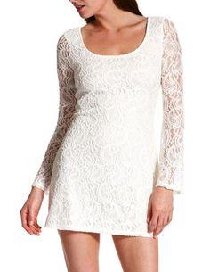 Crochet Lace Mini Dress: Charlotte Russe