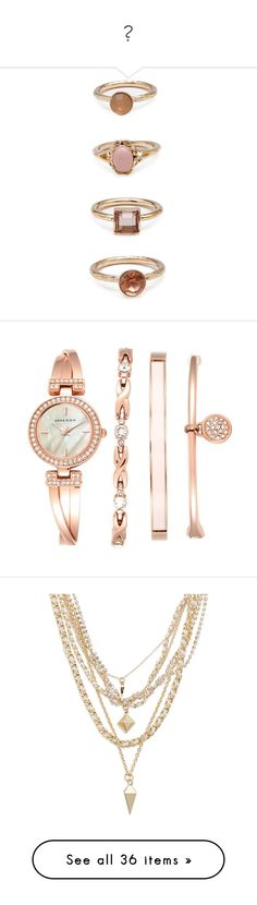 """"""""""" by dyciana ❤ liked on Polyvore featuring jewelry, rings, accessories, forever 21 rings, imitation jewelry, artificial jewellery, imitation jewellery, fake jewelry, bracelets and watches"""