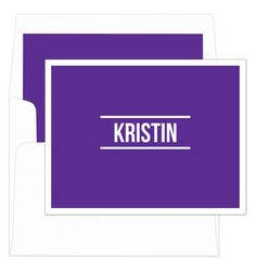 Purple Bold Foldover Note Cards