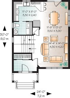 First Floor Plan of House Plan 76222