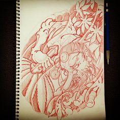 15022016 *taking drawing requests* leave a comment #draweveryday - Request from my friend Brock @brockfidowtattoos #天狗 #tengu #rough #sketch #drawing #design #pencil #tattoo #tattoos #irezumi #刺青 #wabori #和彫 #prahran #melbourne #melbournetattoo #australia #strictlytattoogallery #vancouver #canada #horiryutattoofamily #japan #japanese #japaneseart #japanesetattoo #japanesetattooist