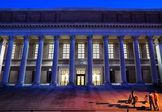 Widener Library, Harvard Yard. Before 9-11, it was possible for anyone to enter the great reading room at Widener. As a student at Harvard in the late 1980s, I recall using the library card catalog, housed in old wooden drawers near the circulation desk - the era before the internet!