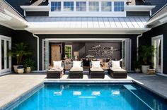 Interior courtyard with swimming pool.