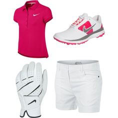 Designer Clothes, Shoes & Bags for Women Nike Golf, Polyvore Fashion, Shoe Bag, Sneakers, Pink, Stuff To Buy, Shopping, Collection, Shoes