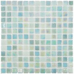 "Show details for 13""x13"" Ruidera Square Agua Mother of Pearl GlsMos G32025Y2"
