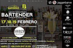 #Repost @jaggerbarve  En HONOR a nuestro Patrocinante @capracocuy por un año brindando el mejor Cocuy de #Venezuela Seguimos Celebrando!  YARACUY - CHIVACOA Quieres ser BARTENDER ? INSCRIPCIONES ABIERTAS!  @JaggerBarVE y @LaCasaDelBartender Traen para ti Certificado Bartender Profesional. Gira Nacional 2017 171819 Febrero 3dias de estudio 9:00am En @GainzaRest / calle 16 entre avenidas 10 y 11. INCLUYE: Licores insumos material de apoyo utensilios Franelas. CERTIFICADO valido Internacional…