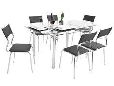 Conjunto de Mesa 6 Cadeiras Somopar Tuane - Conjunto de Mesas e Cadeiras - Magazine Luiza